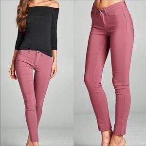 WILA Mauve Stretchy Skinny Jeans